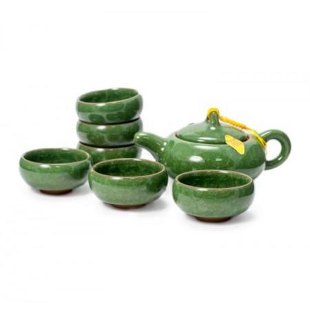 "Чайный сервиз ""Колотый лед"" темно-зеленый"