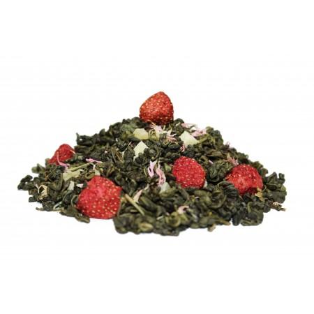 Земляника со сливками (Зеленый чай с добавками)
