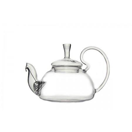 """Чайник из жаропрочного стекла """"Клюква"""",  600 мл"""